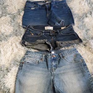 Girls Size 14 Jean Short Lot, #372